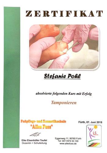 Zertifikat Tamponieren